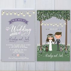 Pit Bull Wedding Invitations Boho Dog Wedding Stationery