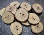 14 Oak Wood Buttons. 1.25 Inches Wide #EasyPin