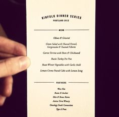 Kinfolk graphic design menu