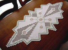 HARDANGER Embroidery - exceptional large TABLE RUNNER for Christmas handmade in Crafts | eBay
