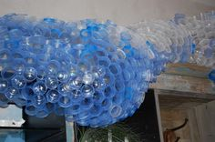 plastic cup sculptures at #anthropologie