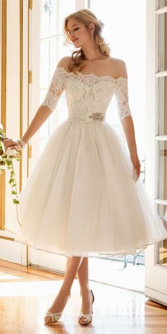 tea length wedding gowns 1