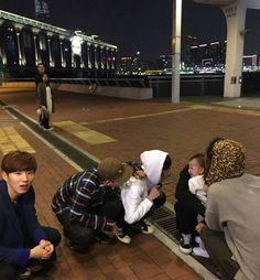 Monsta X playing with babies is the end of my life #monstax #changkyun #jooheon #hyungwon #minhyuk #kihyun #wonho #shownu
