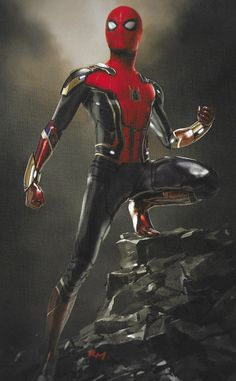 "Spider-Man: Far From Home gave Peter Parker a spectacular new red and black costume for the sequel's final battle and we now have concept art revealing some alternate versions of that ""Upgraded Suit. Marvel Dc, Marvel Comics, Marvel Heroes, All Spiderman, Spiderman Suits, Amazing Spiderman, Superhero Suits, Princesas Da Disney Punk, Marvel Concept Art"