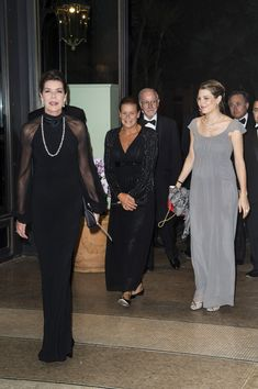 Charlotte Casiraghi Photos Photos - (L-R) Princess Caroline of Hanover, Princess Stephanie of Monaco and Charlotte Casiraghi arrive to attend the AMADE MONDIALE association Gala Dinner at Hotel Hermitage on October 4, 2013 in Monaco, Monaco. AMADE MONDIALE celebrates its 50th anniversary on Friday. - 'AMADE' Celebrates 50 Years in Monaco
