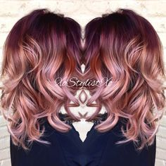 Image result for rose mauve hair color