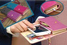 Phone Wallet: multifunctionele portemonnee waar ook je telefoon in past! T.w.v. €24,95 nu maar €9,95 #smartphone #gratis #kleuren #handig