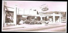 Chrysler Car Dealership on Monterey St in San Luis Obispo.  1950s ?  Vintage photo.