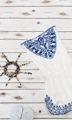 embroidered beach dress tunic