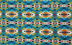 Tribal fabric-Cotton Quilting fabric-Boho Fabric-Atez turquoise green,canary yellow,red,brown,black southwest fabric sold by the 1/2 yard by AmourFabriQues on Etsy