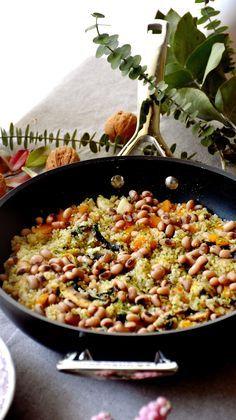 Quinoa salteada con calabaza y champiñones / Chez Silvia