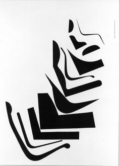 Herman Miller graphic including #Eames chair and George Nelson chair silhouettes @hermanmiller
