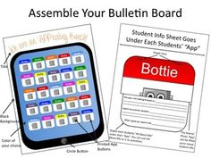 "Printable ""We are an 'APP'ealing Bunch"" Back-to-School Bulletin Board (iPad, iPhone)"