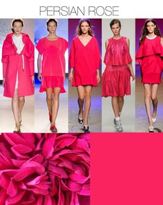 Trend Council:  COLOR - Think Pink Key Color Trends SS14, PERSIAN ROSE