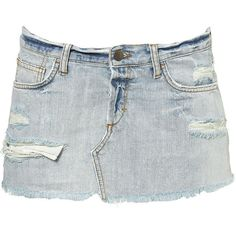 Distressed Bleach Denim Pelmet ($36) ❤ liked on Polyvore featuring skirts, mini skirts, bottoms, saias, faldas, denim skirts, distressed skirt and ripped skirt