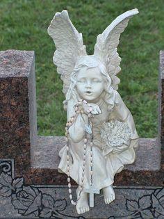 little angel on deviantart White Angel, Garden Sculpture, Angels, Deviantart, Outdoor Decor, Spirit Guides, Spirituality, Angel