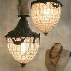 'antique reproduction small beaded lantern chandelier' ❀ ~ ◊ photo via 'eloquence inc' Lantern Chandelier, Antique Chandelier, Antique Lighting, Chandelier Lighting, Chandeliers, Pendant Lights, Spa Lighting, Interior Lighting, Lamp Light