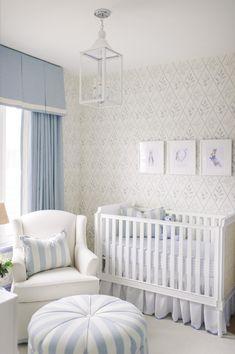 Traditional Blue & White Classic Boy's Nursery