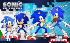 Sonic The hedgehog anniversary! What is Sega planning? Sonic Fan Characters, Video Game Characters, Shadow The Hedgehog, Sonic The Hedgehog, Sonic 25th Anniversary, Sonic Generations, Sonic 3, Sonic Mania, Otaku