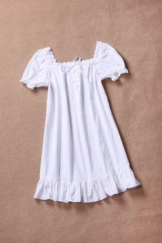 Victoria S Secret Long White Cotton Lawn Nightgown Ruffled