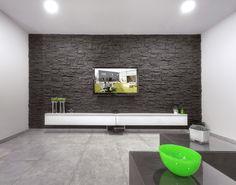 Stone wall imitation. Flat Files, Surface Design, Bad, Bathtub, Stone, Home Architect, Black, Standing Bath, Bathtubs