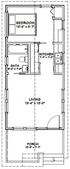 14x30 tiny house 14x30h1a 419 sq ft excellent floor plans - Plan For House
