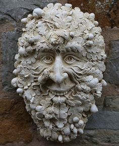 Garden Ornaments : Green Man Garden Ornaments : Green Man Garden Ornament 'Crimscote'