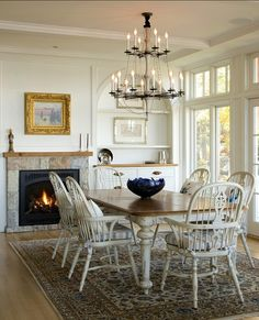 ⭐Windsor chairs painted white