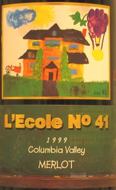 """This wine ROCKS! This winery is located in an old schoolhouse, in historic Frenchtown, a small community west of Walla Walla, founded by French-Canadian immigrants in the 1800s. """"L'Ecole No. 41 Merlot has an attractive nose full of berry flavors. On the palate, it's dense but smooth, complex and well-balanced - an extremely enjoyable wine."""" http://www.lecole.com"""
