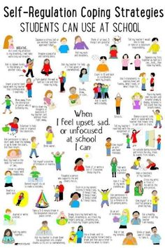 Coping skills - SelfRegulation Coping Strategies for School by lynda School Counseling Office, School Social Work, Emotional Child, Social Emotional Learning, Self Regulation Strategies, Group Therapy Activities, Counseling Worksheets, Mindfulness Techniques, Whole Brain Teaching