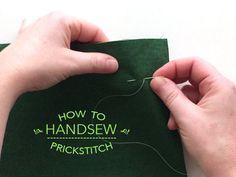 how to handsew the prickstitch