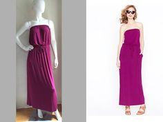 "J CREW TOTALLY FEMME ~~AMIE-MAXI~~ RESORT COMFY ""STRETCH"" POCKET LONG DRESS S #JCrew #Maxi #Casual"