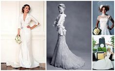 Retro Inspired Wedding Gowns - http://herbigday.net/retro-inspired-wedding-gowns/