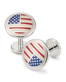 US flag enamel cuff links