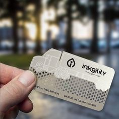 #Stainless #Steel #BusinessCards from @inkgility