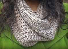 Pattern of the Day: Eggnog Crochet Cowl | by Rebecca Langford of Little Monkeys Crochet via Stitch and Unwind