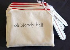 Take a look at this tampon bag. Just. Look. | 17 Things That Prove Having Your Period Is Actually Hilarious
