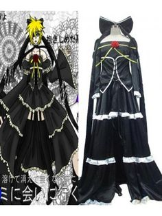 Vocaloid Imitation Rin Black Cosplay Outfits Costumes