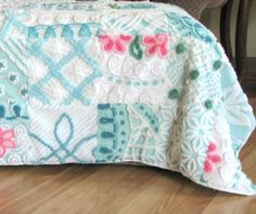 combining 2 of my loves!  chenille and quilts!!