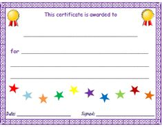 Free Certificate Templates  Blank Certificates  Free Printable