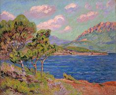 Armand Guillaumin (French, 1841-1927)  La Baie d'Agay, Cote d'Azur,  1910.