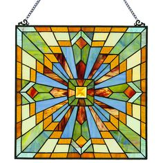 Found it at Wayfair - Mission Stained Glass Clouds in the Sky Window Panel