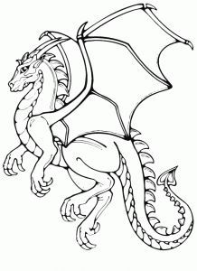 Dragon Coloring Pages For Preschool Preschool And Kindergarten Dragon Coloring Page Dragon Quilt Free Coloring Pages