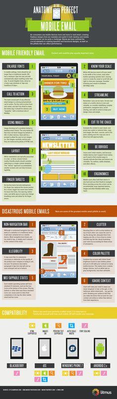 Mobile email anatomy  #marketing