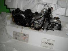 FRANKLIN MINT HARLEY DAVIDSON 1948 Panhead POLICE Motorcycle B11Z029 MIB NEW A