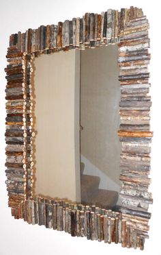 Hand Crafted Rustic Wood Branch Mirror by DesignsByShannel on Etsy, $120.00