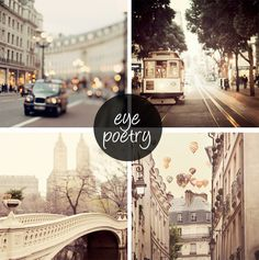 Beautiful photography of London, San Francisco, New York and Paris