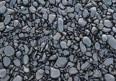 Rock Texture with Black Pebbles