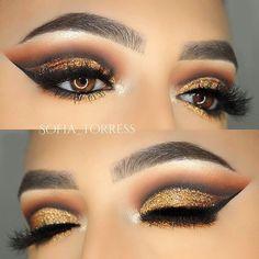 """WEBSTA @ sofia_torress - Lashes: @shopsofiebella """"Versace""""Brows: @anastasiabeverlyhills brow whiz medium brownEyes: @anastasiabeverlyhills single shadows """"burnt orange"""", """"fudge"""", """"noir"""""""