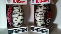 Some custom airbrushed footballs by Nicedzigns.com
